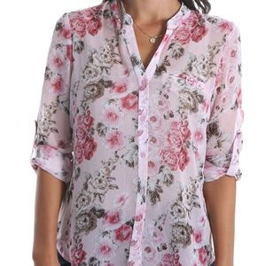 KUT from the Kloth NWT Jasmine Semi Sheer Floral S